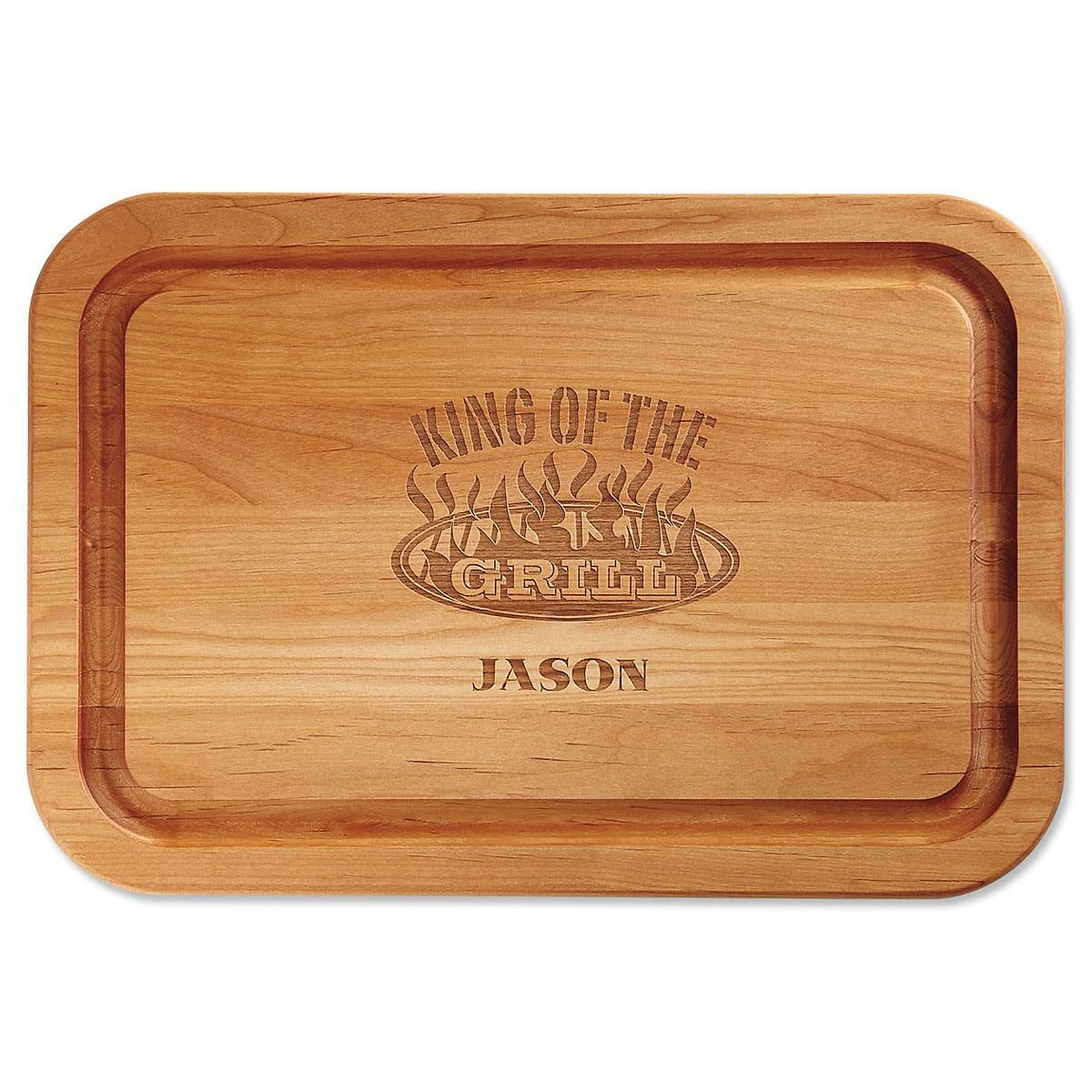 King of the Grill Custom Wood Cutting Board