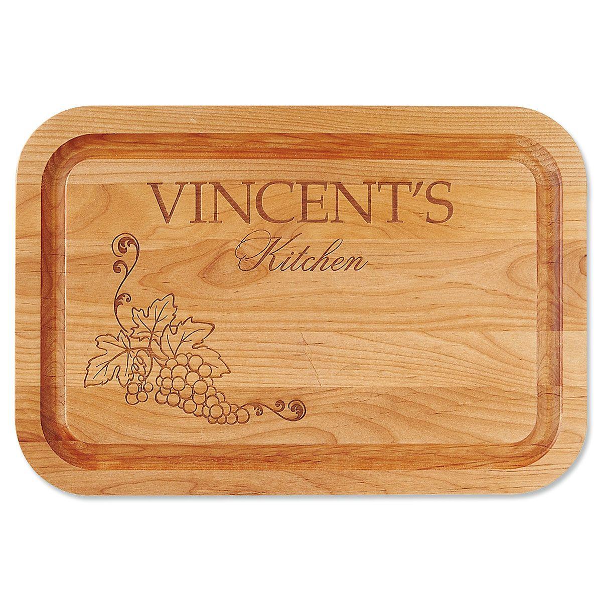 Vineyard Red Alder Custom Wood Cutting Board