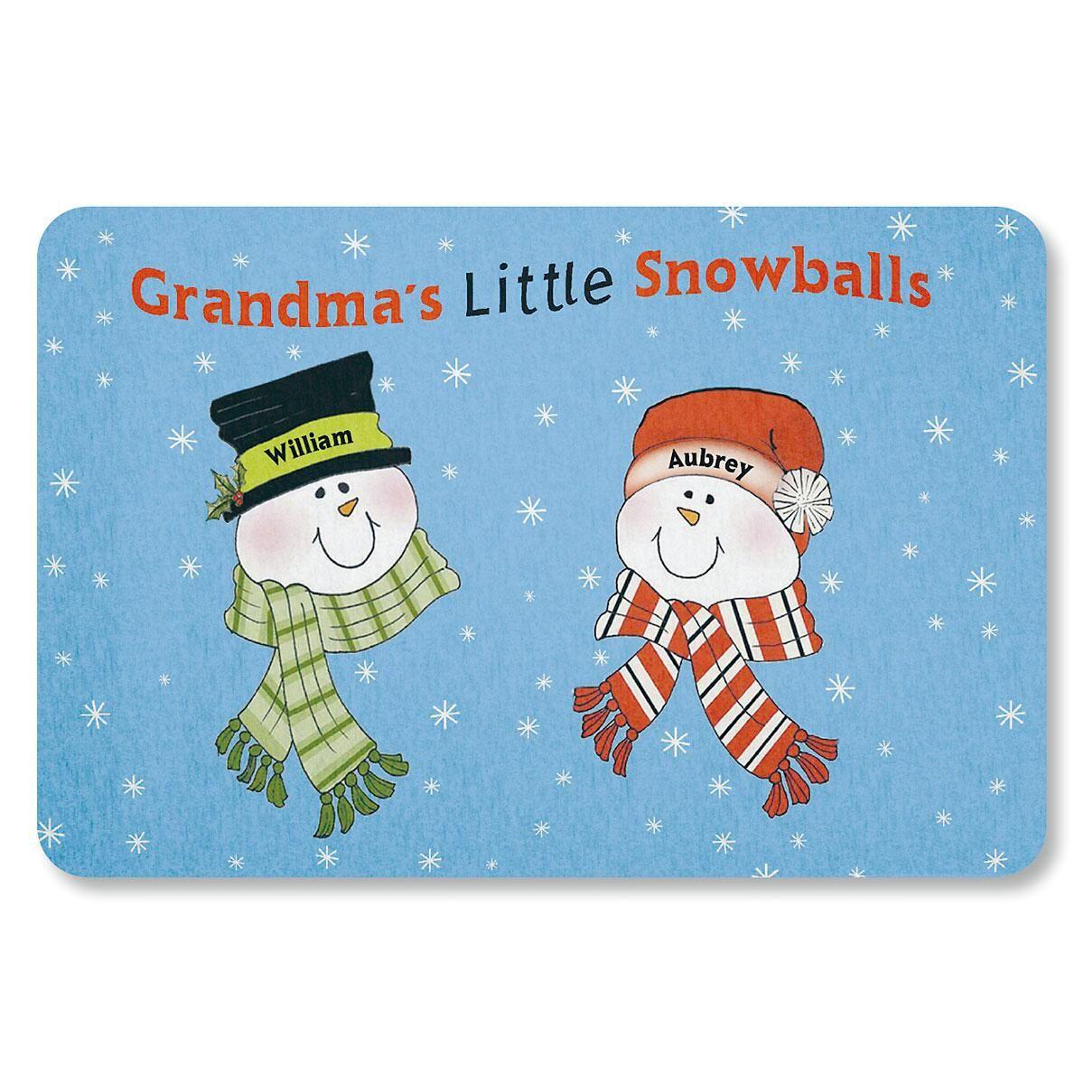 Grandma's Little Snowballs Doormat