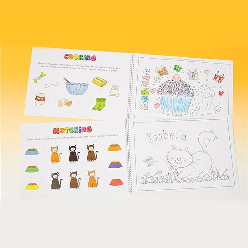 Personalized Color-In Activity Book