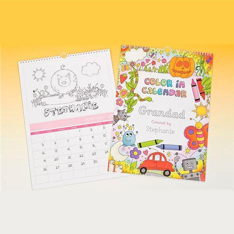 Color-Me-In Wall Calendar