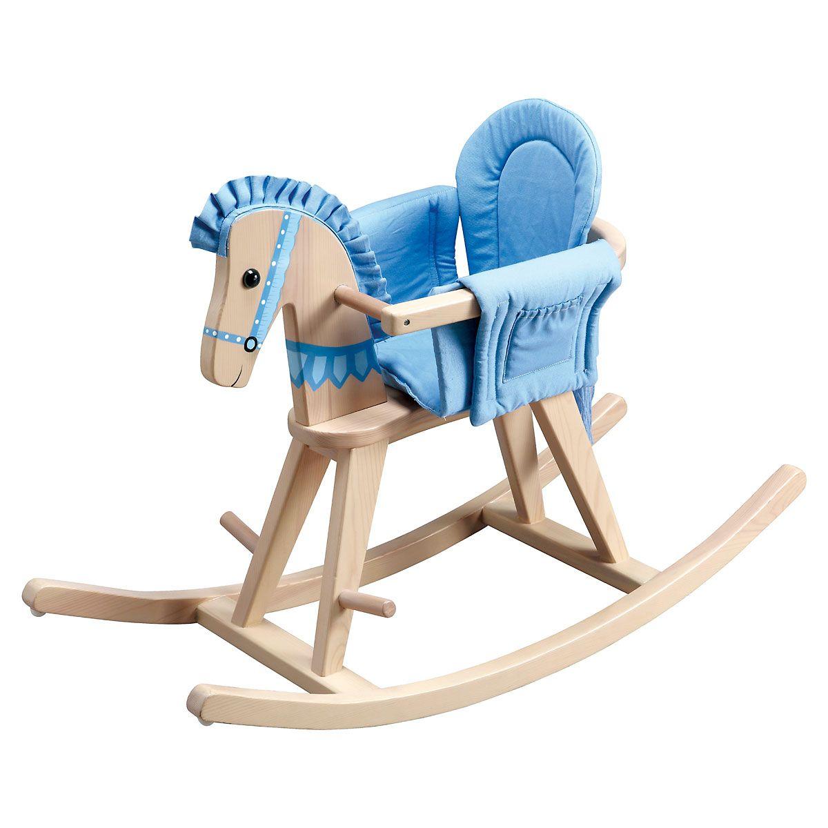 Custom Blue Safari Rocking Horse