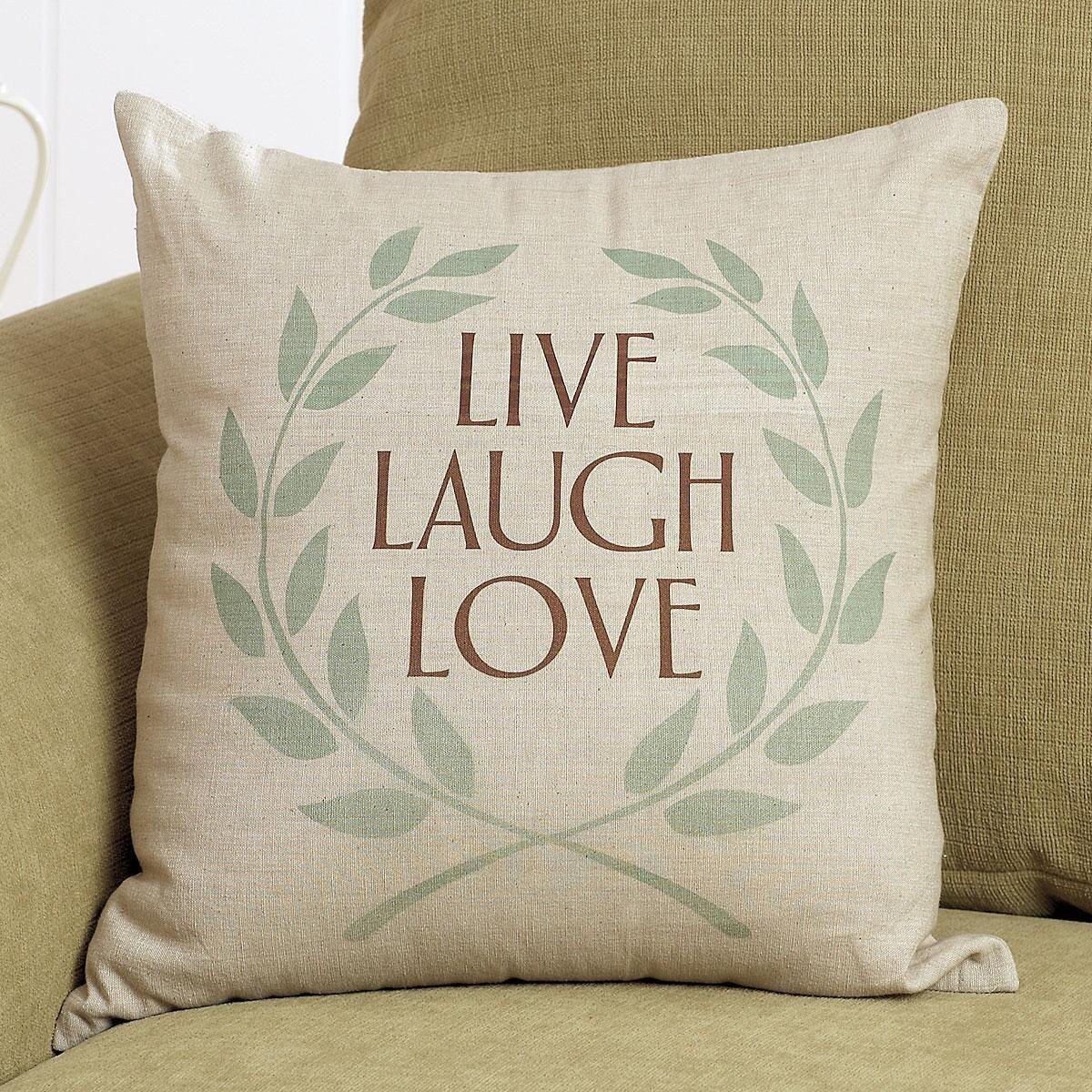 Live, Laugh, Love Pillow