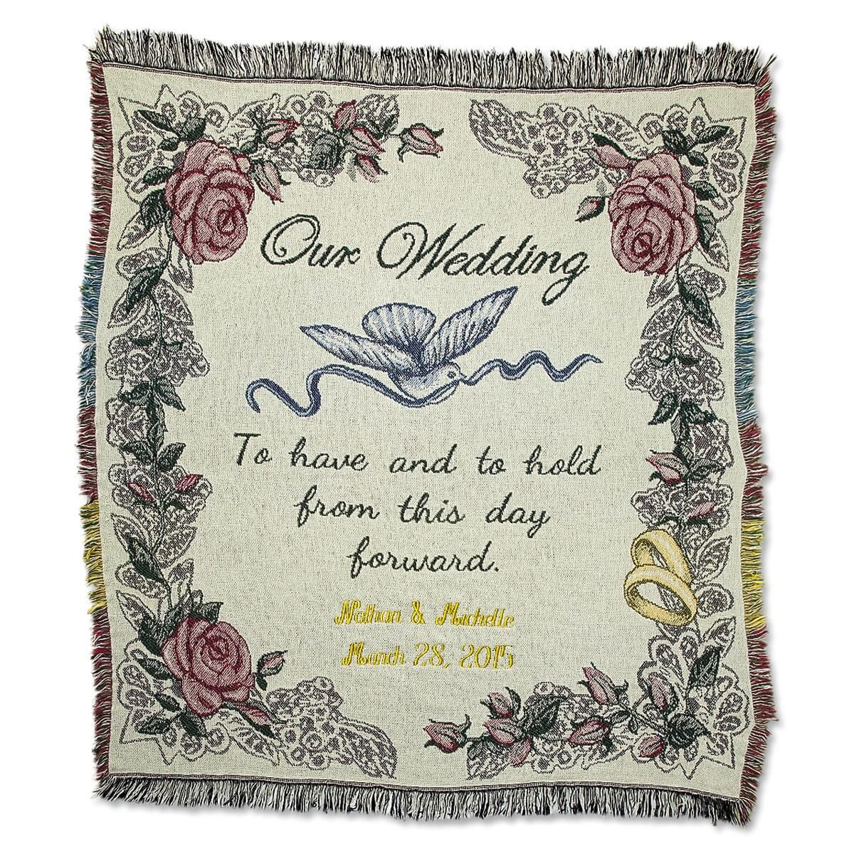 Custom Wedding Throw