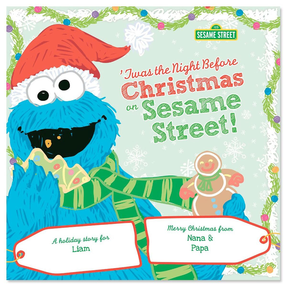 Twas The Night Before Christmas Sesame Street Personalized Storybook