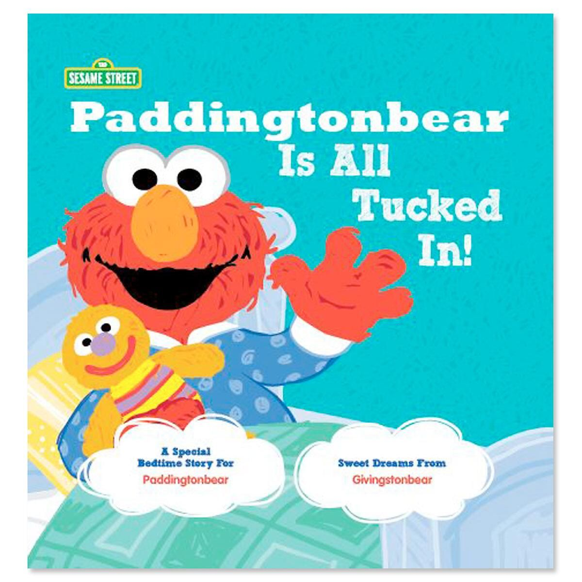 All Tucked In Sesame Street Personalized Storybook