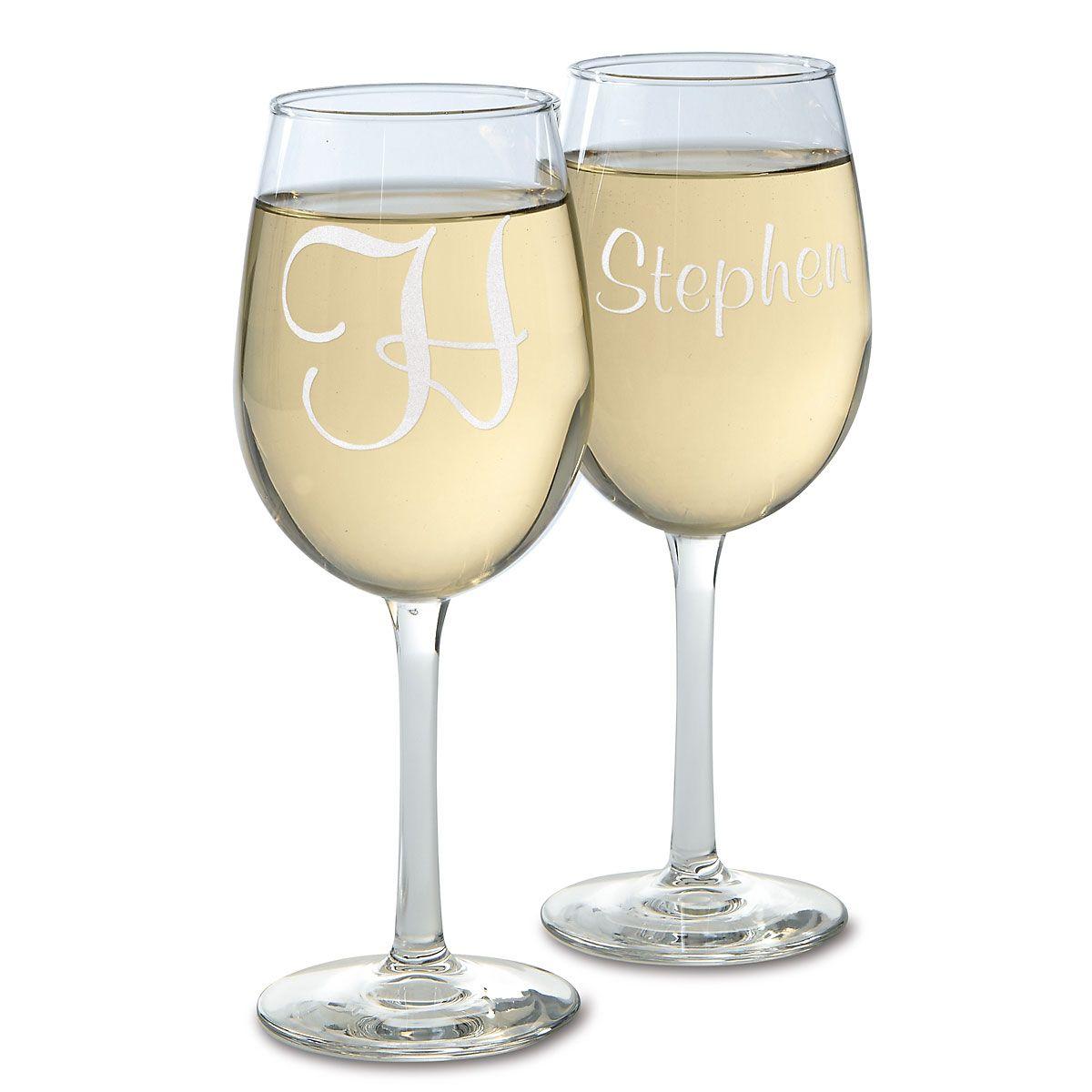 Script Stemmed Custom Wine Glasses