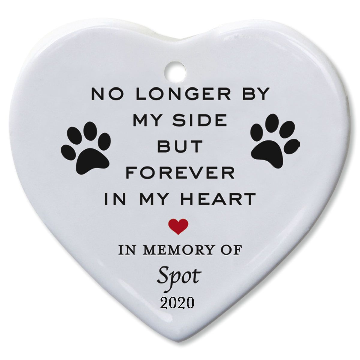 Forever In My Heart Pet Memorial Custom Ornament