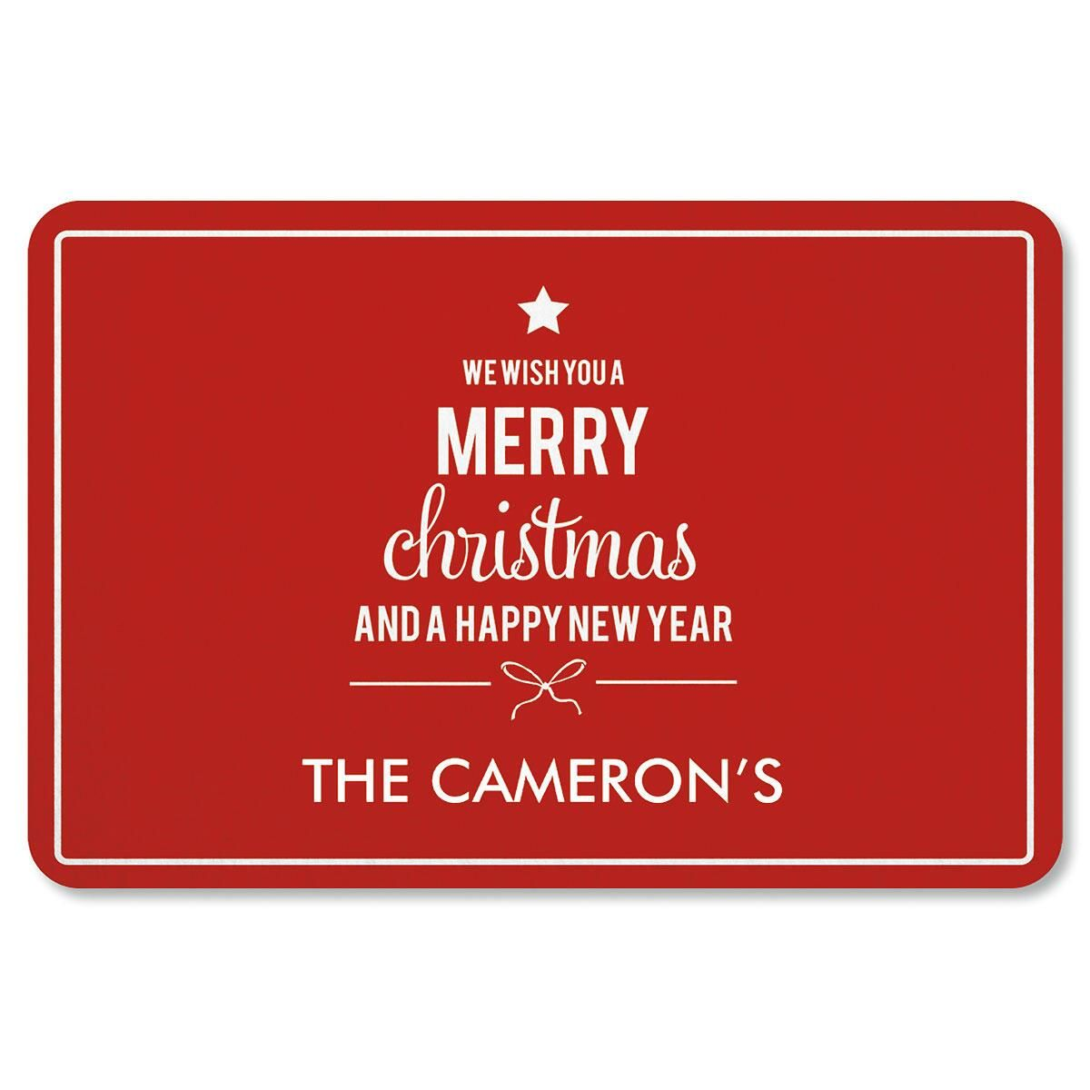 Custom We Wish You Christmas Doormat