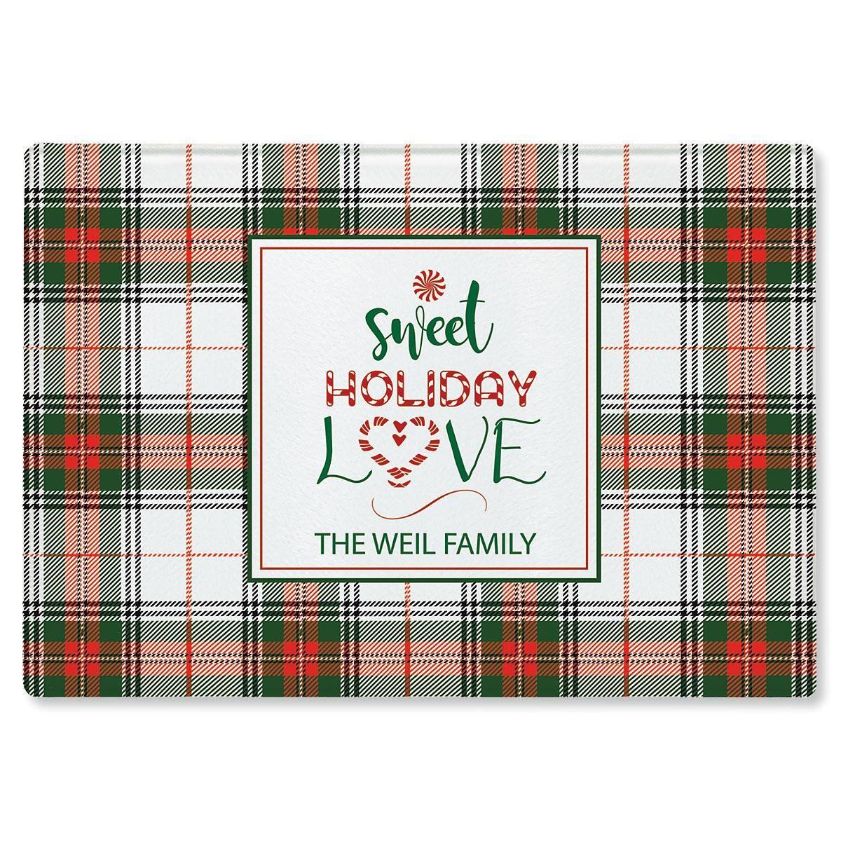 Sweet Holiday Love Custom Cutting Board