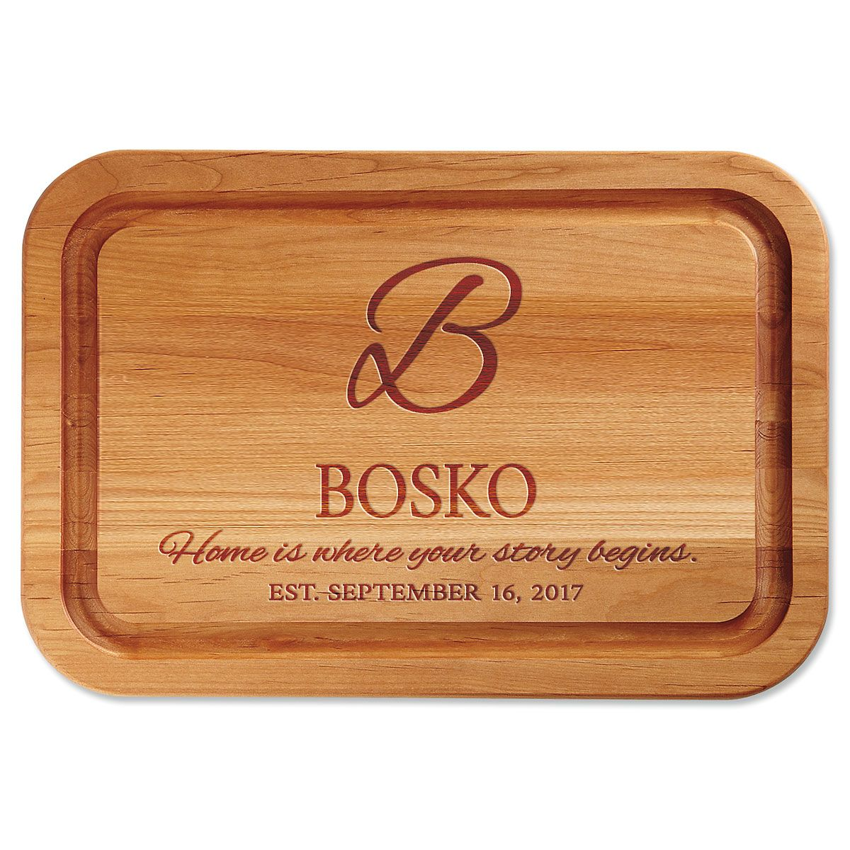 Personalized Home is Where Your Story Begins Custom Wood Cutting Board
