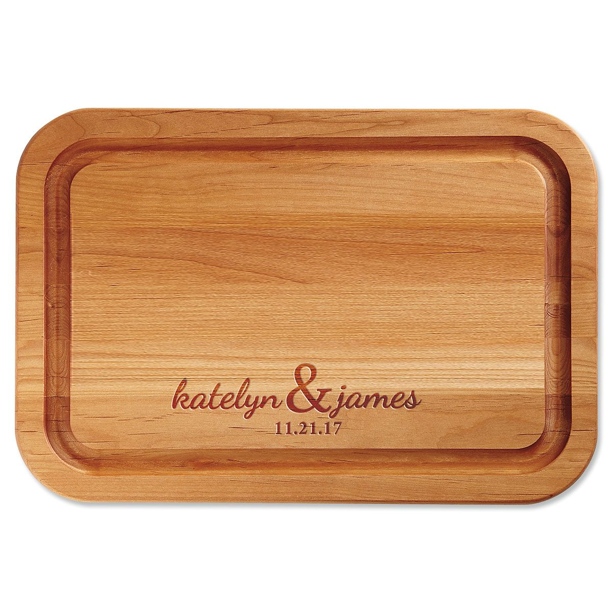 Personalized Couples Custom Wood Cutting Board