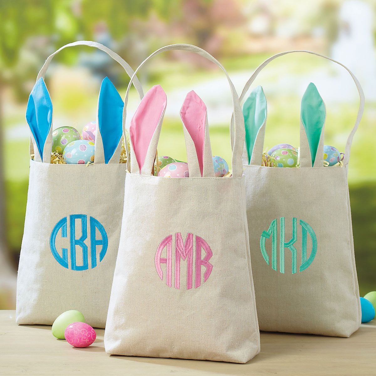 Custom Easter Totes with Ears