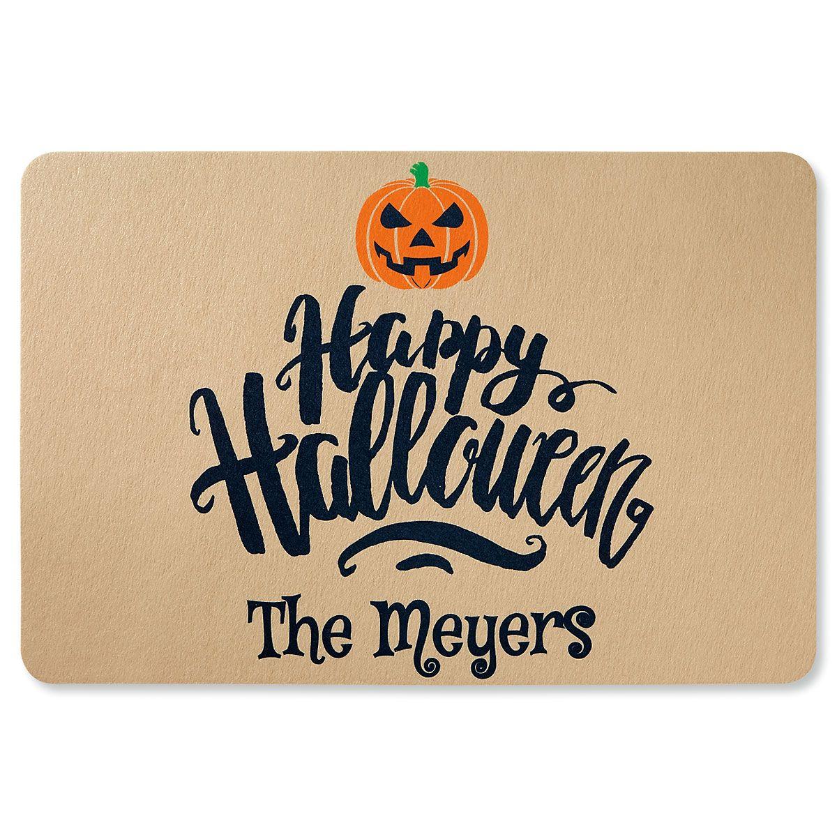 Custom Happy Halloween Doormat