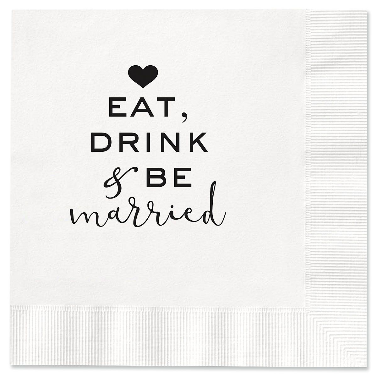 Eat Drink & Be Married Cocktail Napkins