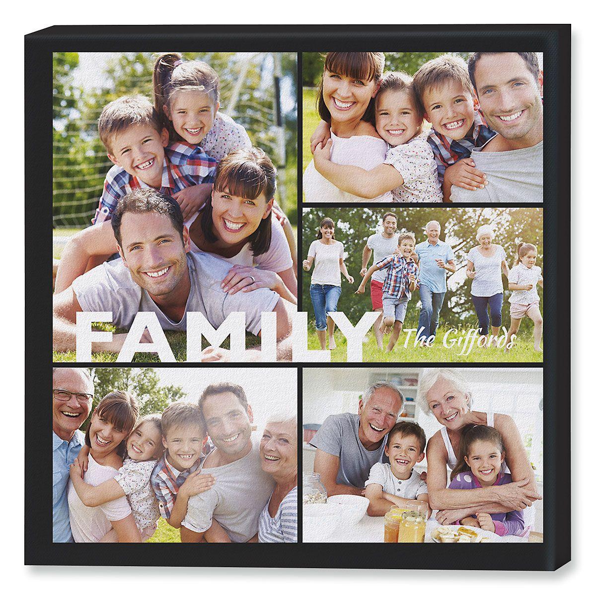 Family Collage Custom Photo Canvas