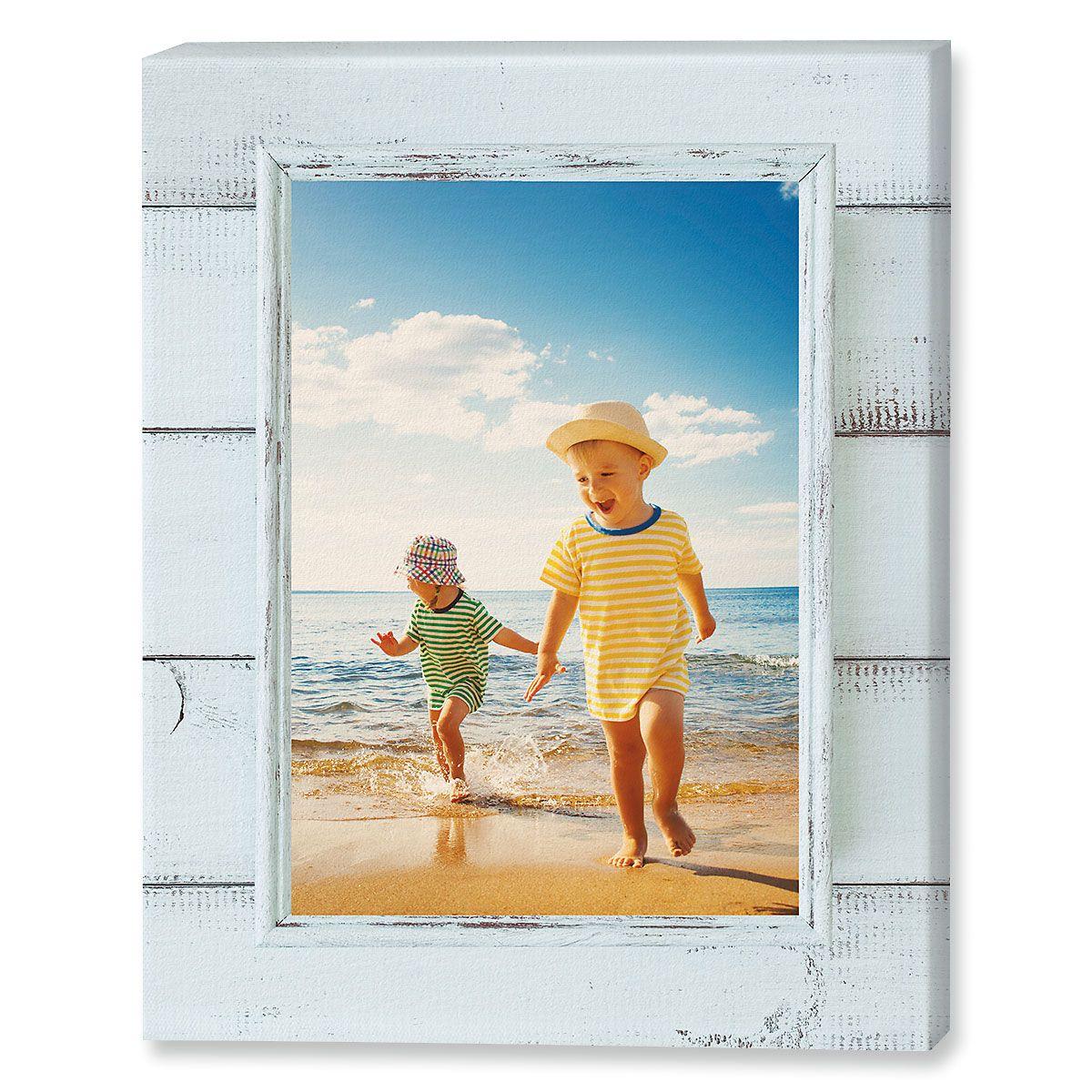 Shiplap Custom Photo Canvas