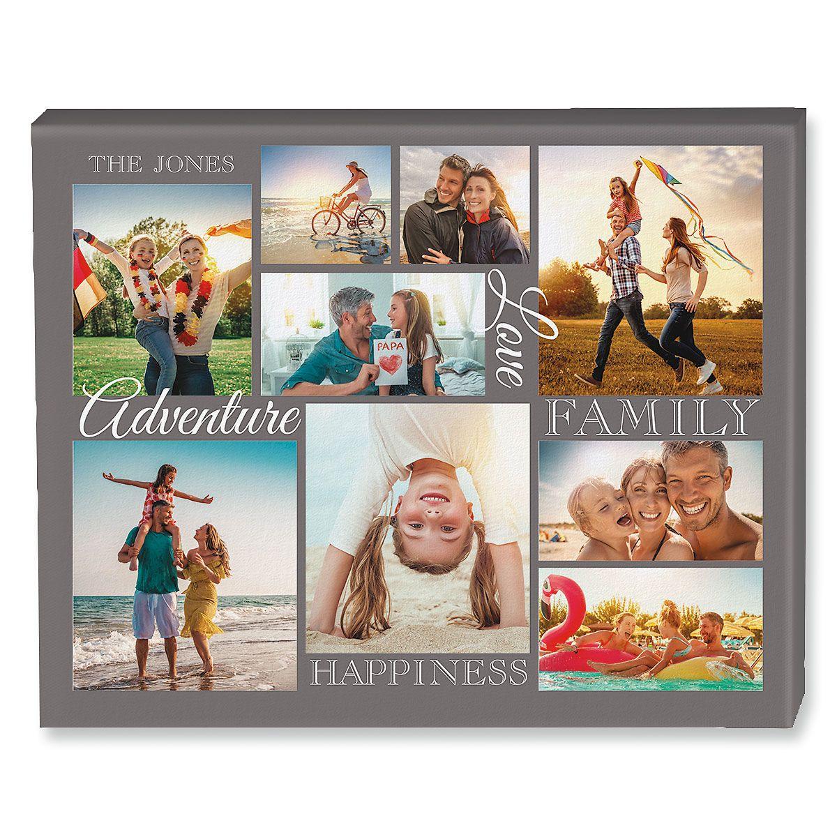 Adventure Collage Custom Photo Canvas