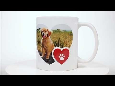 Paw Print Custom Photo Mug