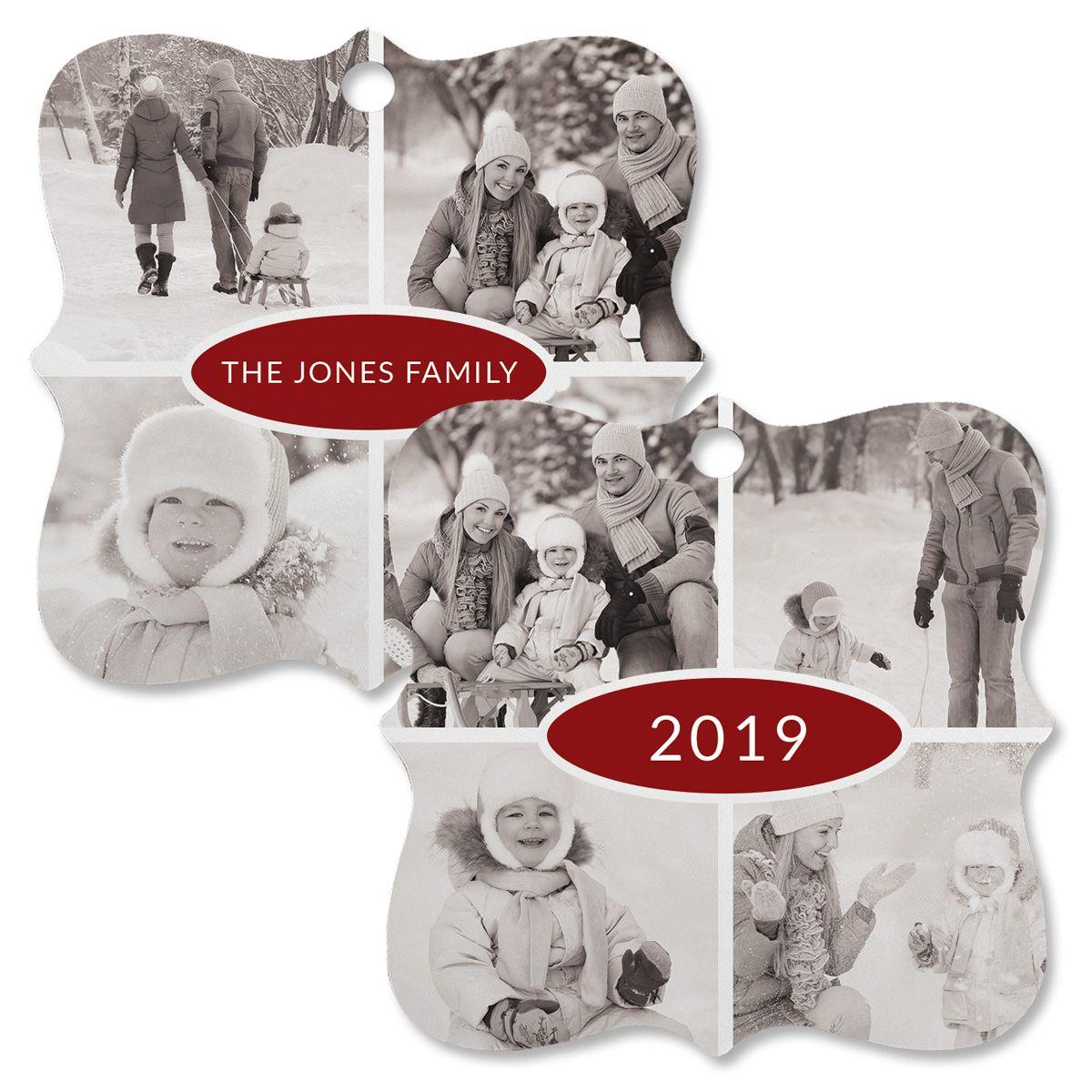 Year Custom Photo Ornament - Square Bracket 4