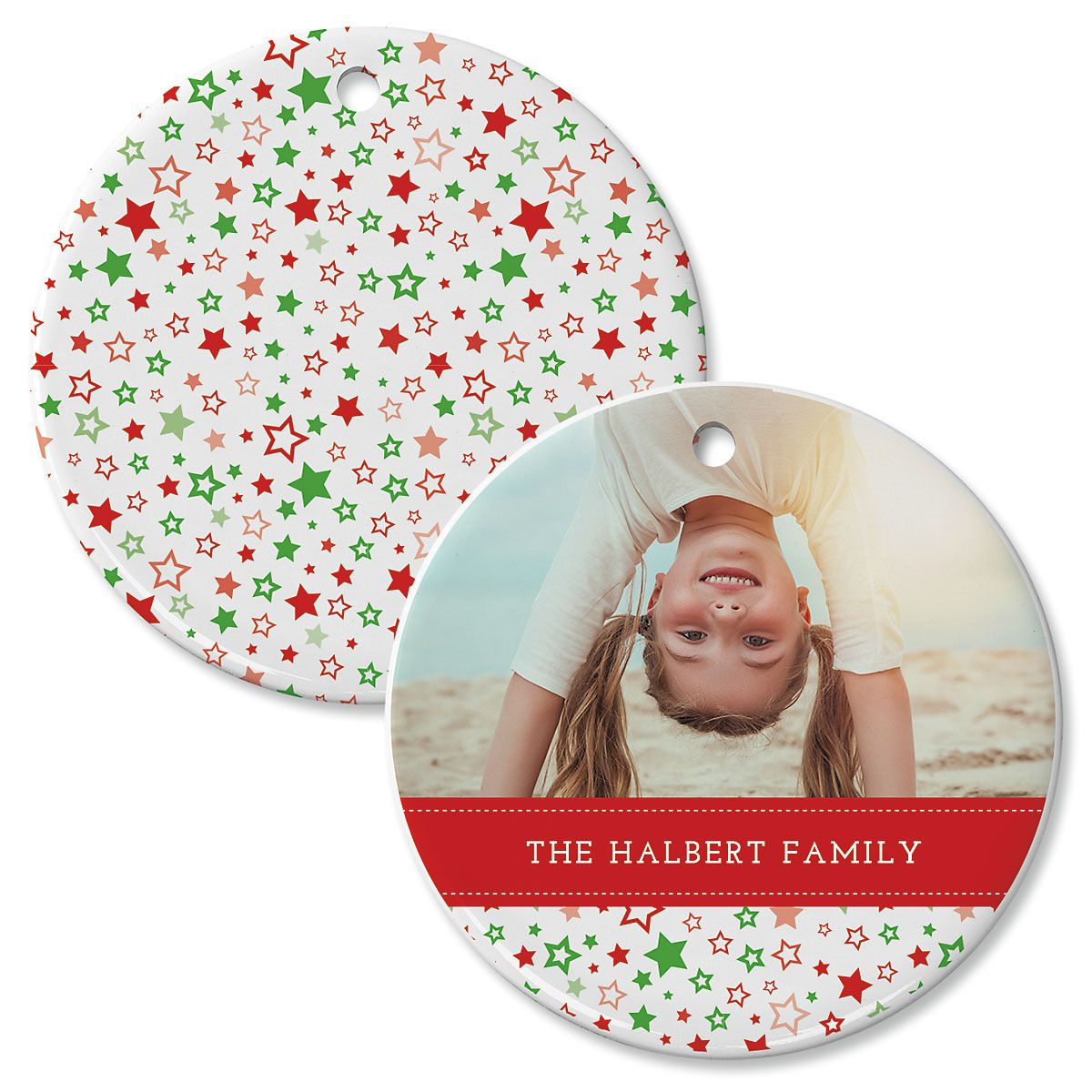 Holiday Stars Custom Photo Ornament