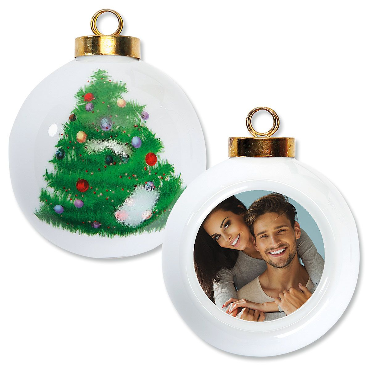 Full Custom Photo Ornament - Round Tree