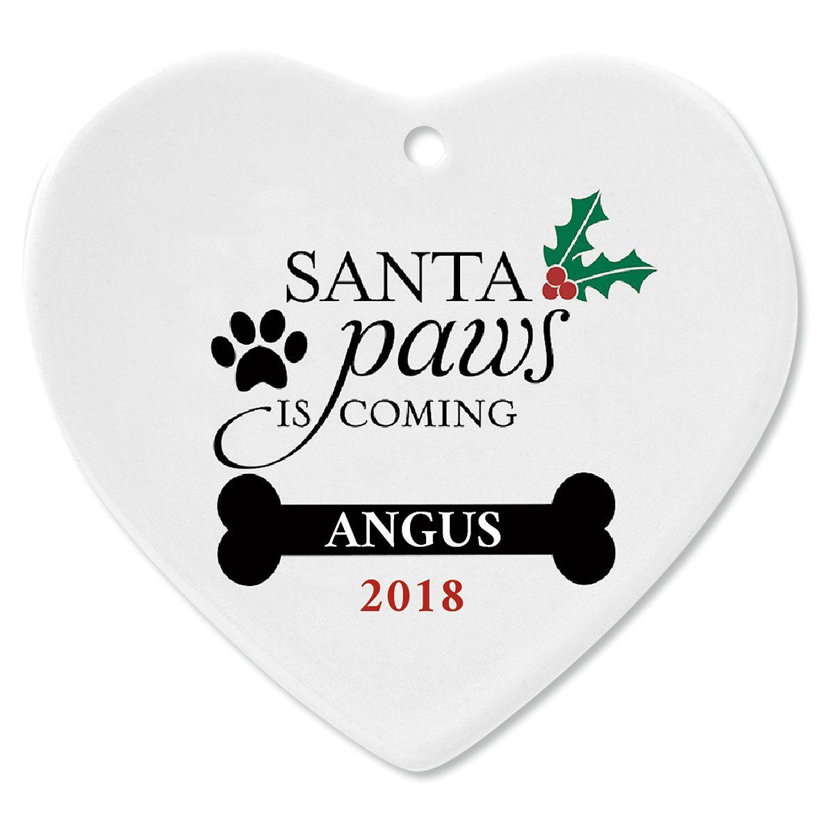 Santa Paws Custom Christmas Ornament