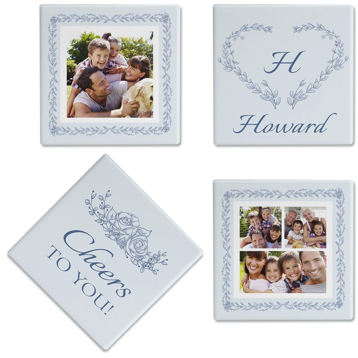 Laurel Cheers Custom Photo Coasters
