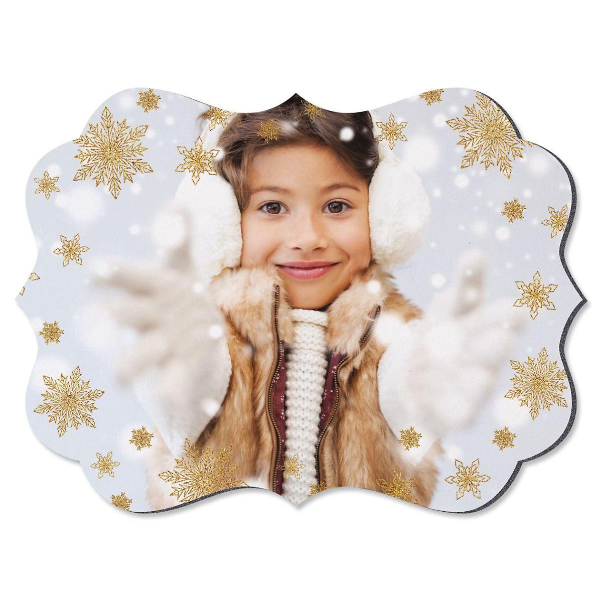 Glitter Snowflake Benelux Custom Photo Plaque