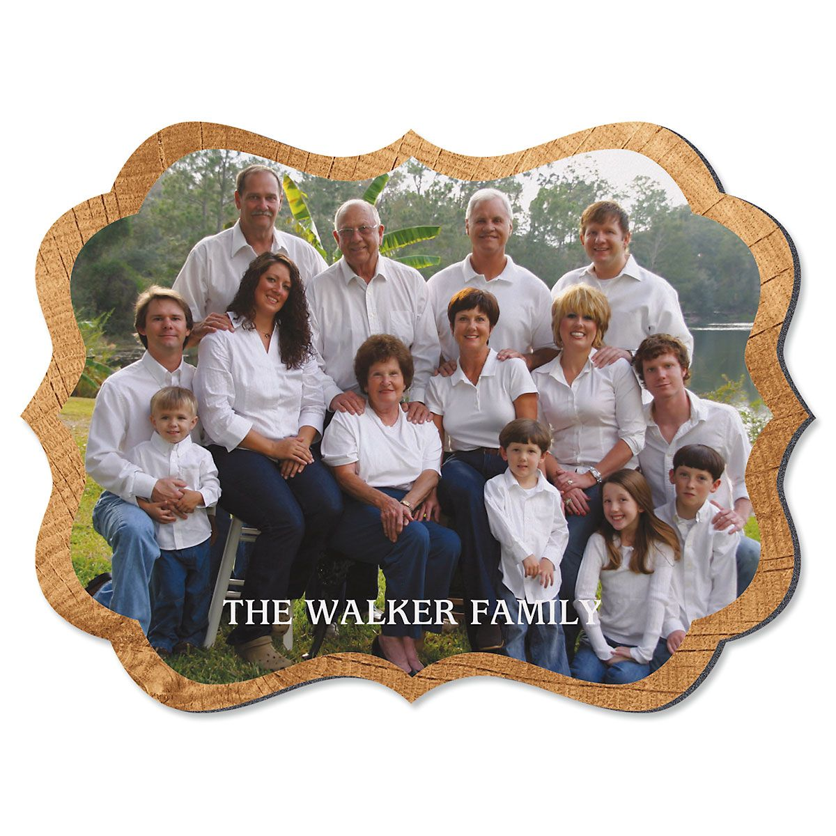 Midtone Wood Family Name Benelux Custom Photo Plaque