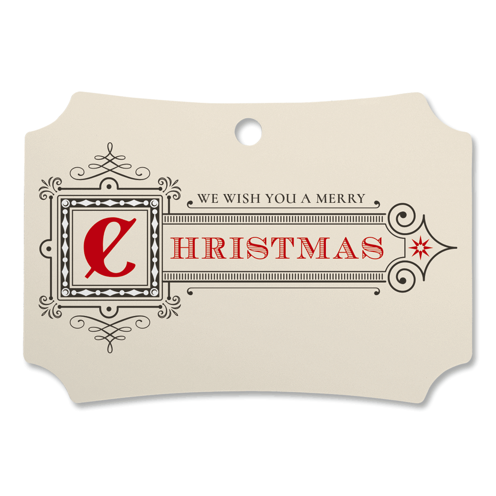 Merry Christmas Personalized Ornament Deluxe