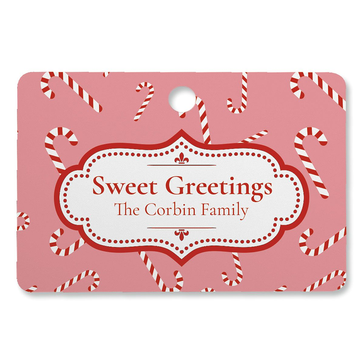 Sweet Greetings Personalized Ornament Rectangle