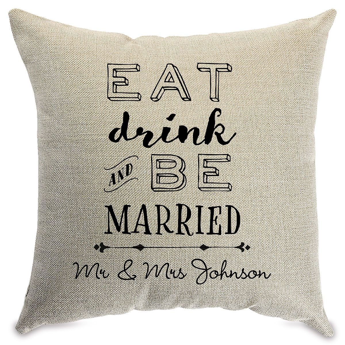 Be Married Personalized Pillow Natural
