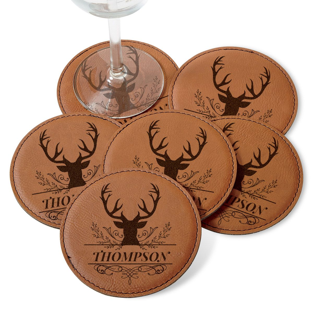 Custom Deer Coaster Set
