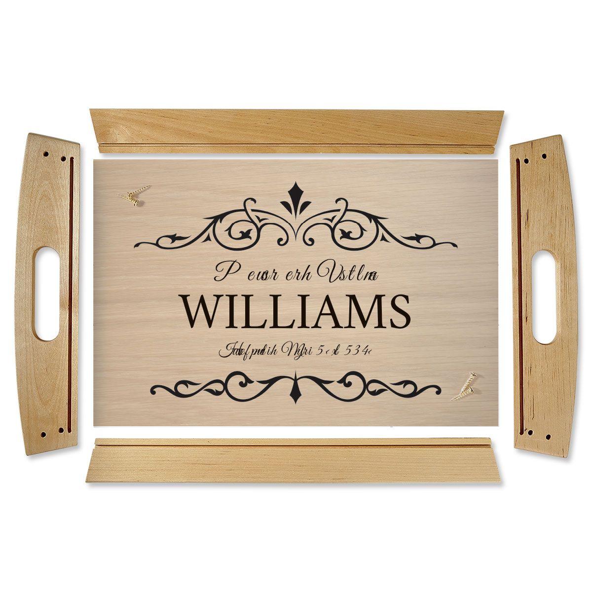 Custom Established Natural Wood Serving Tray