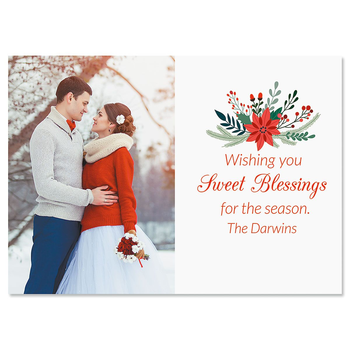 Sweet Blessings Custom Photo Christmas Cards