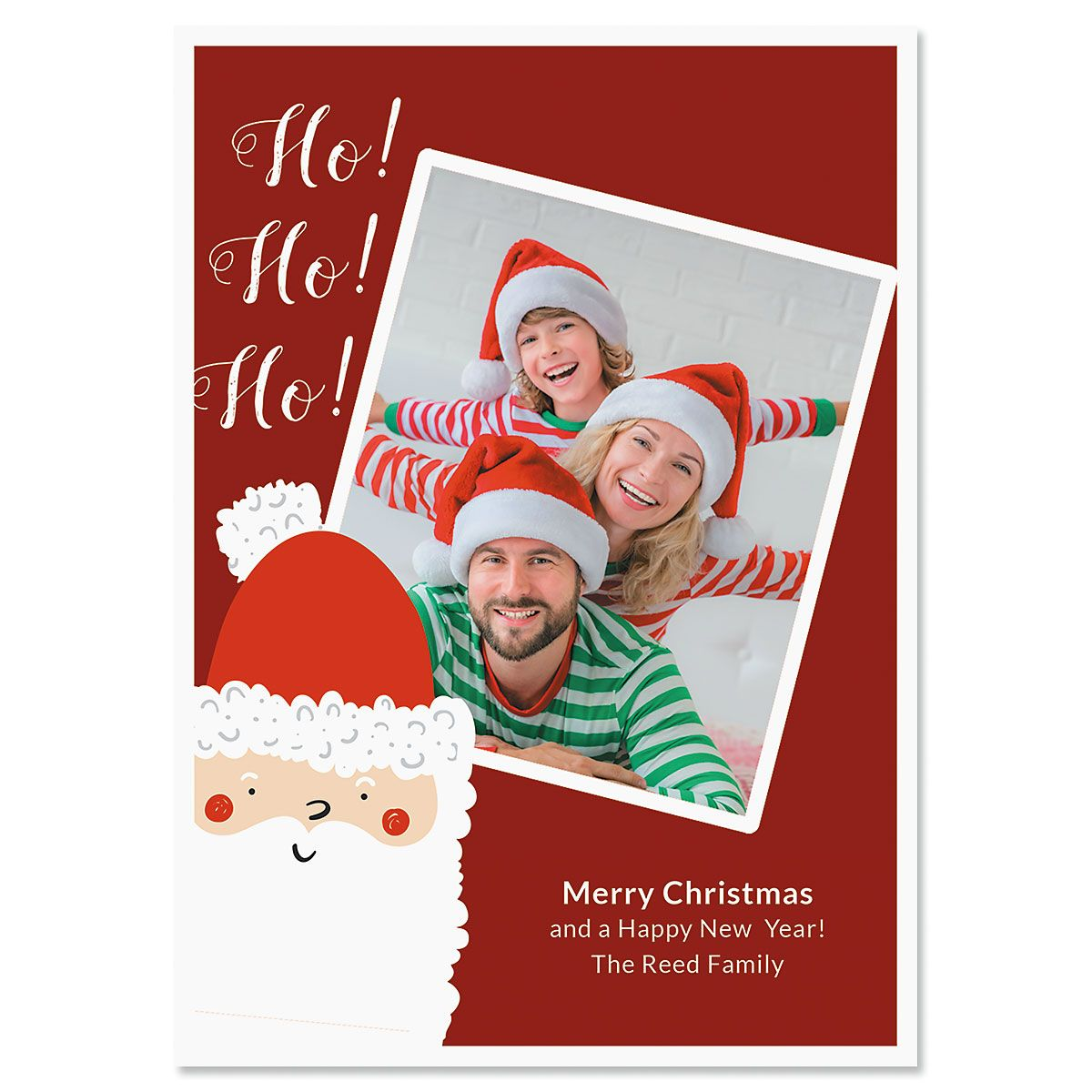 Ho Ho Ho Custom Photo Christmas Cards