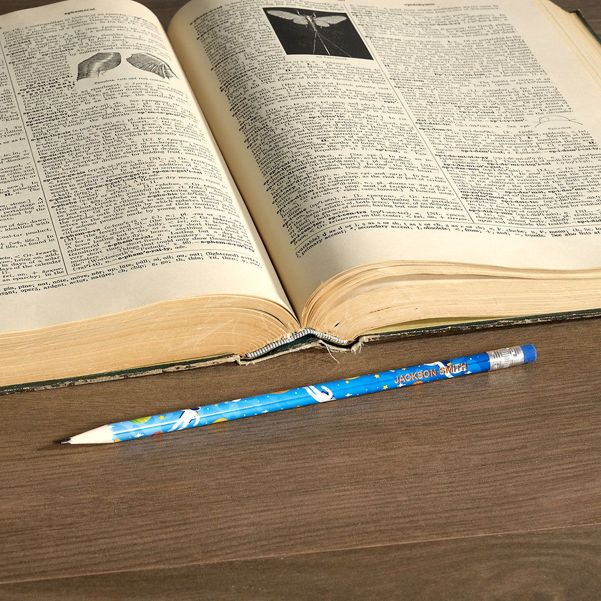 Astronauts  #2 Personalized Hardwood Pencils