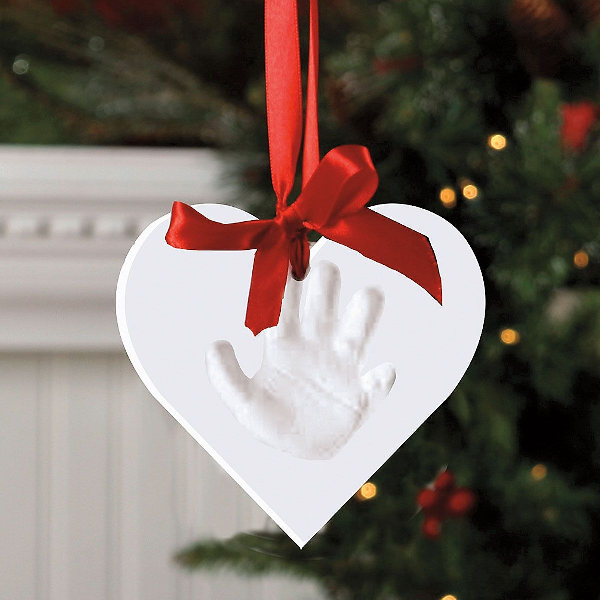 Heart-Shaped Handprint Ornament Kit