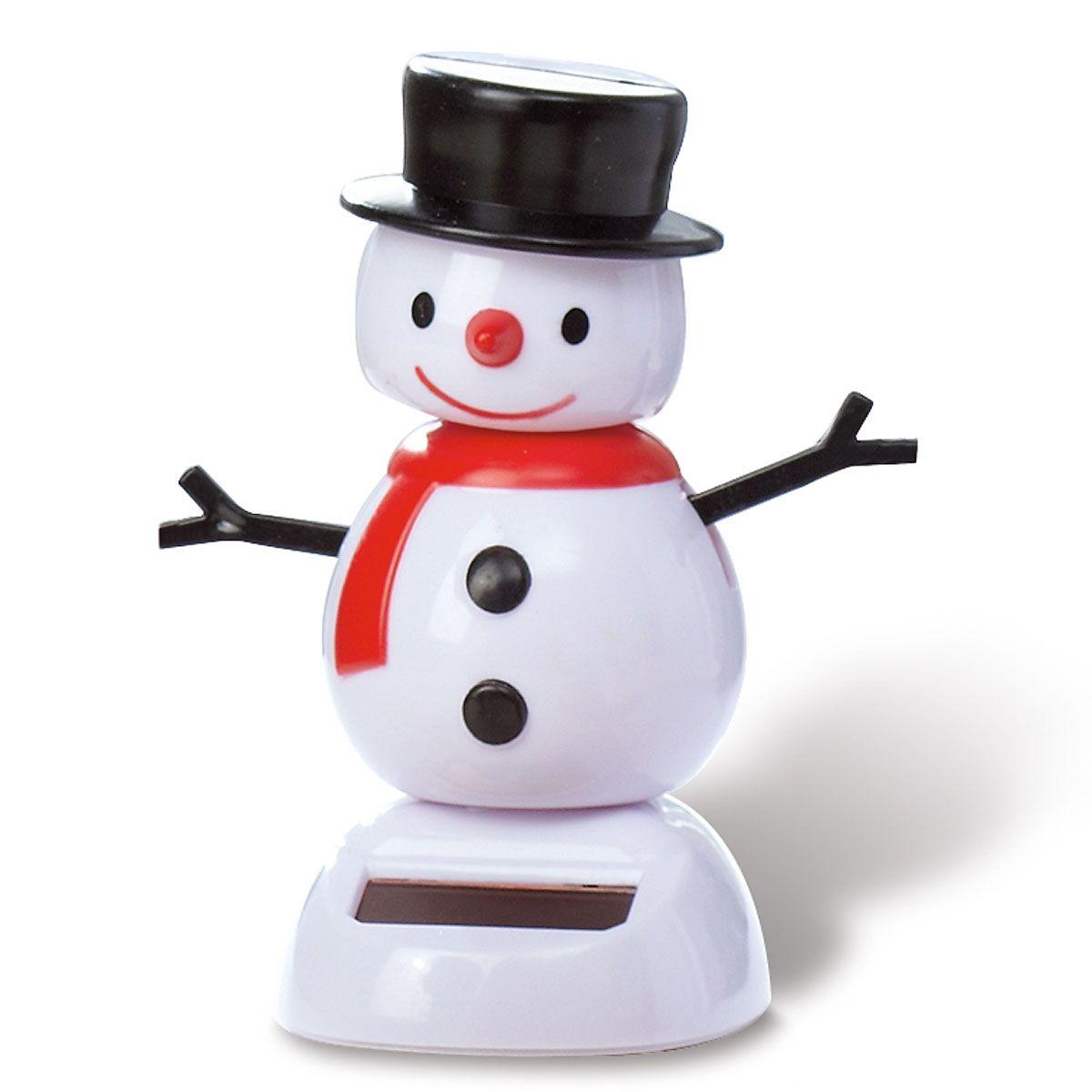 Snowman Solar Dancer Figurine