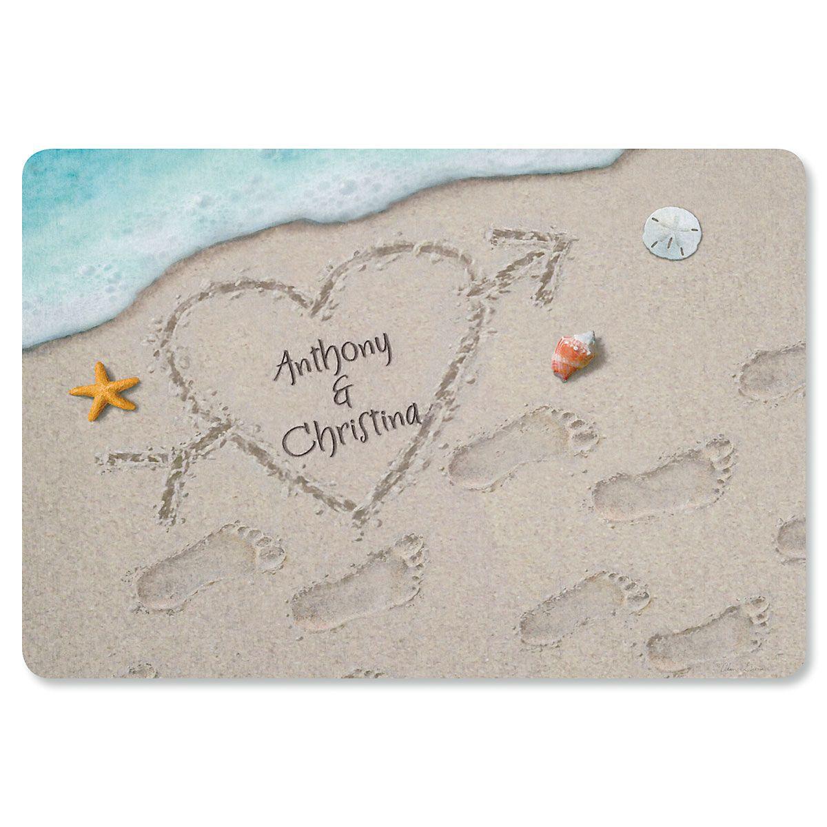 Heart in the Sand Doormat