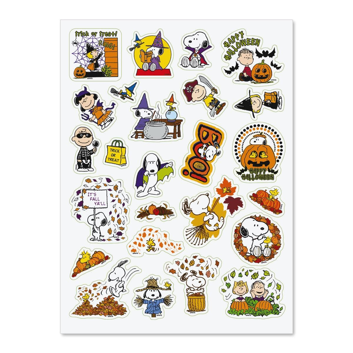 PEANUTS® Fall Stickers