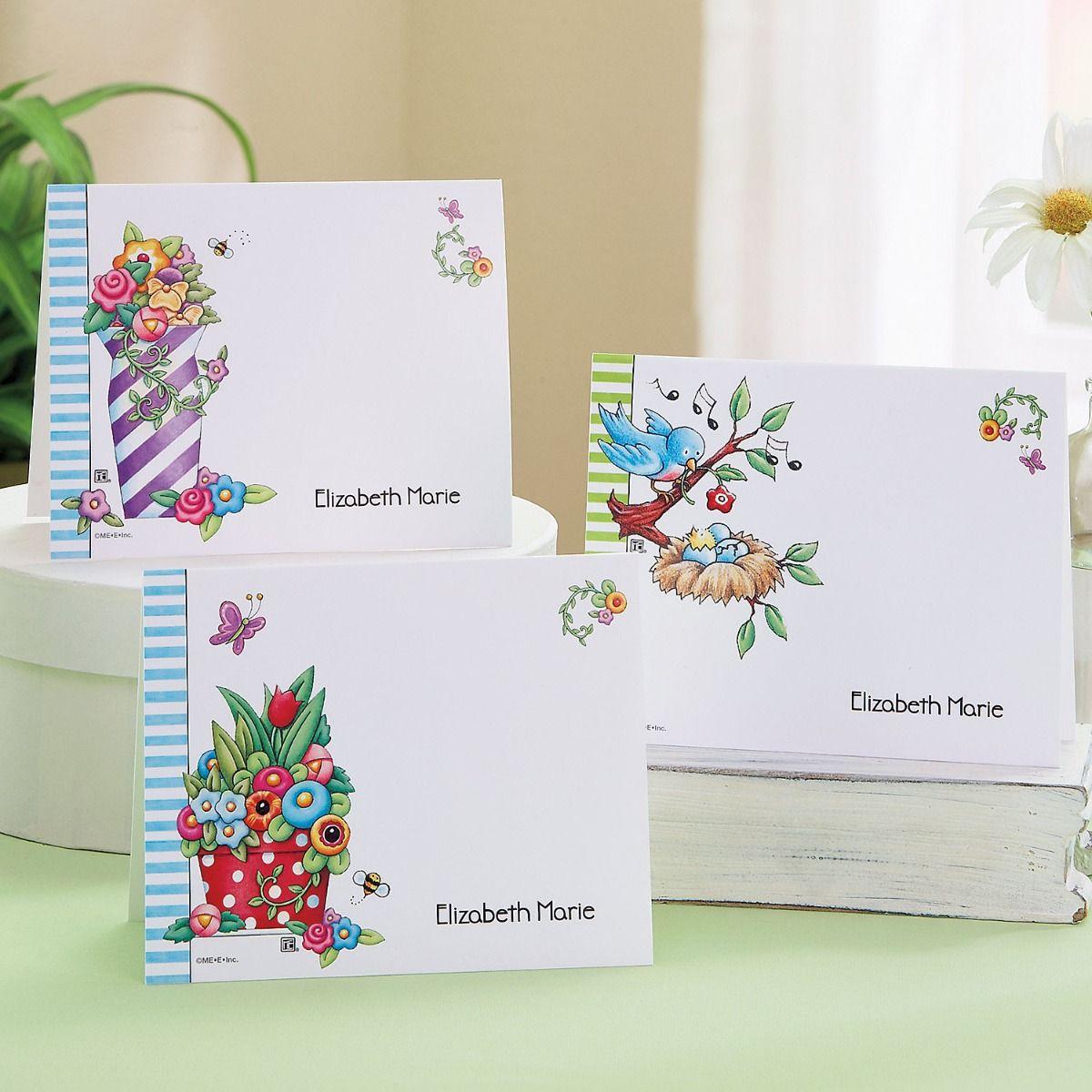 Mary Engelbreit®  Floral Custom Note Cards