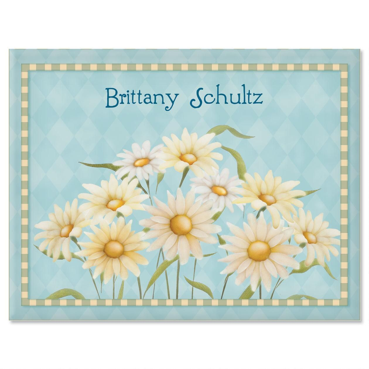 Daisy Personalized Note Cards