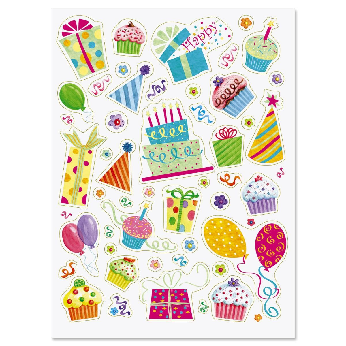 Birthday Party Stickers - Buy 1 Get 1 Free