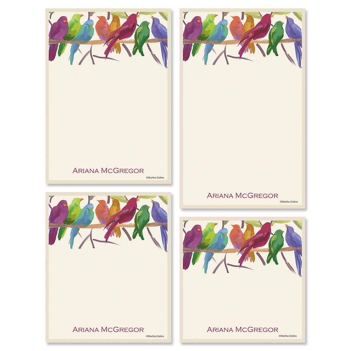 Flocked Together Memo Pad Sets
