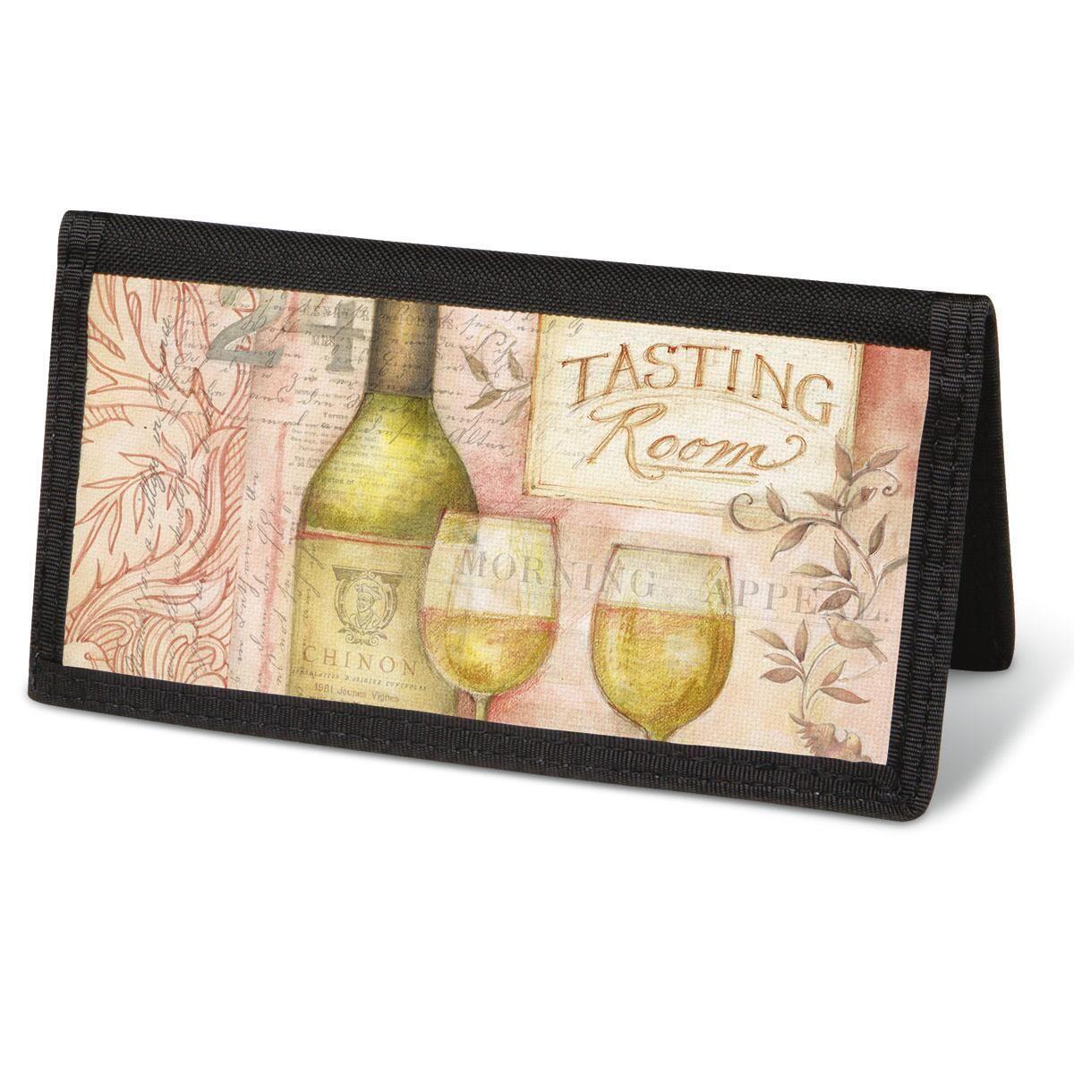 Wine Cellar Checkbook Cover - Non-Personalized