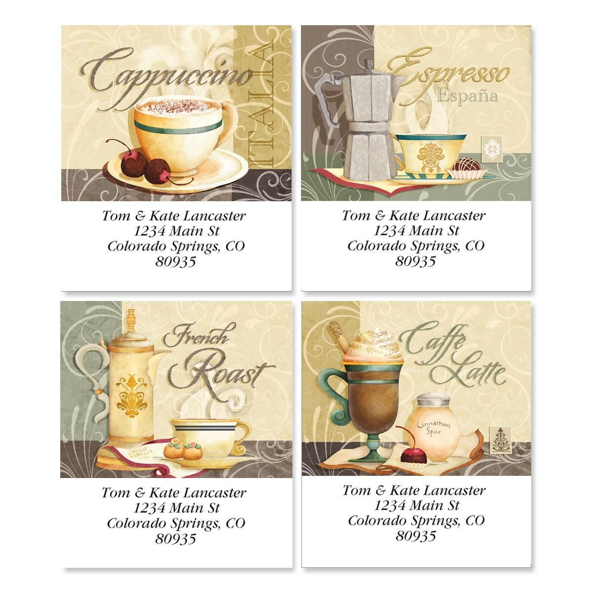 Coffee Talk Select Return Address Labels  (4 Designs)