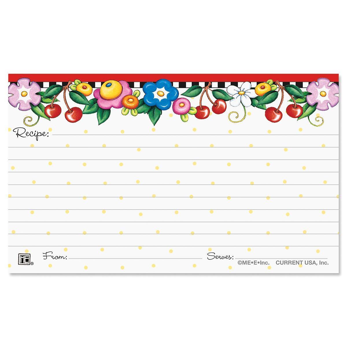 Mary Engelbreit® Recipe Cards - 3 x 5