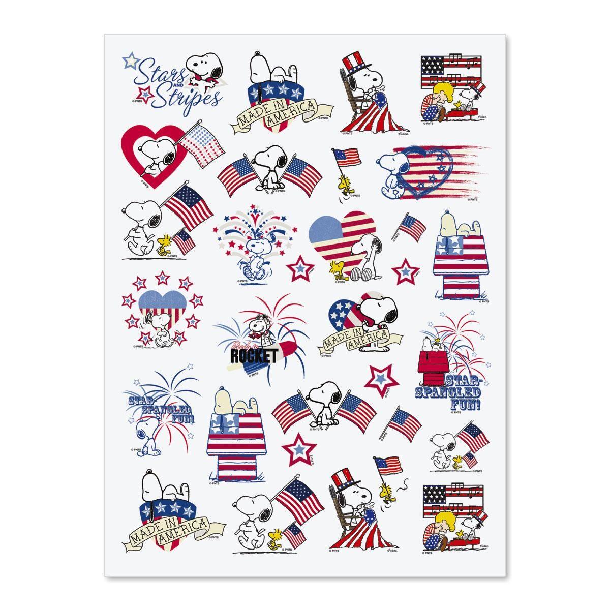 Peanuts Patriotic Stickers